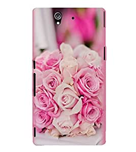 PrintVisa Designer Back Case Cover for Sony Xperia Z :: Sony Xperia ZC6603 :: Sony Xperia Z L36h C6602 :: Sony Xperia Z LTE, Sony Xperia Z HSPA+ (Multicolor roses design :: Beautiful roses design :: Rose Bouquets design : :Perfect wedding bouquet design)