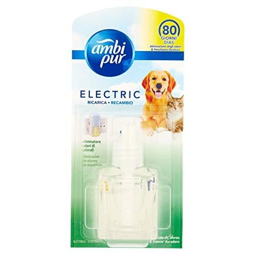 Ambi Pur Eliminatore Odore di Animali per Diffusore Elettrico, Ricarica da 21.5m