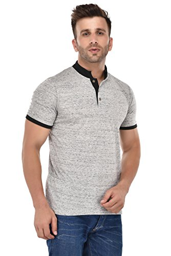 9Zeus-Half-Sleeve-Slim-Fit-100-cotton-Off-White-with-Collar-T-shirt-For-Men
