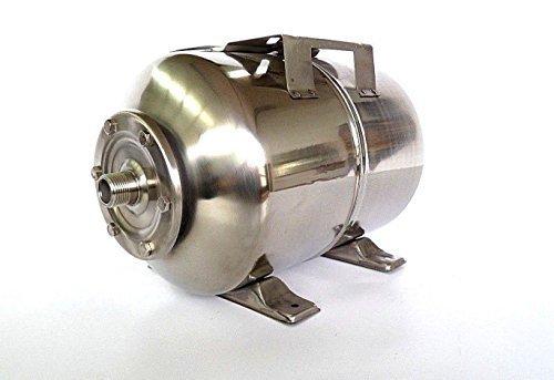 50 Liter Druckkessel, Membrankessel für Hauswasserwerk aus poliertem Edelstahl u. EPDM Membran. Druck- und Dichtheitsprüfung nach EN Normen !!!