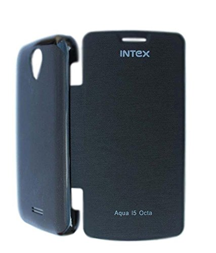 BRYNN Flip Cover For Intex Aqua I5 Octa -Black  available at amazon for Rs.149