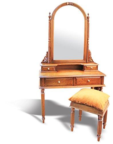 mousasgallery schminkt isch| Bois Massif Style Antique/Baroque/Louis XV/XVI | fabriqué à la Main | Coiffeuse | cosmétiques Table