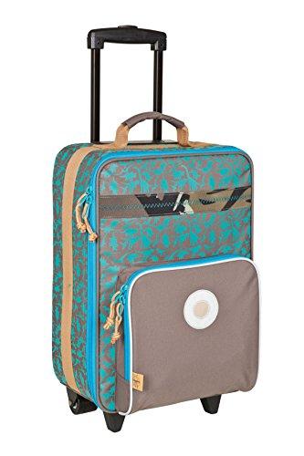 Lässig Valise à Roulettes Dino ardoise -bagage multifonctionnel pour enfants, grand compartiment intérieur isolé