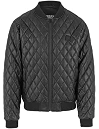 Urban Classics Jacke Diamond Quilt Leather Imitation Jacket-Chaqueta Hombre