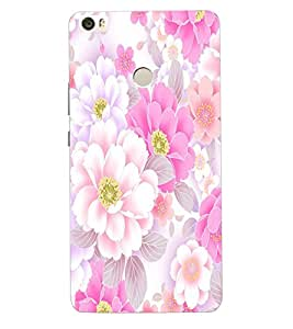 ColourCraft Beautiful Flowers Design Back Case Cover for XIAOMI MI MAX