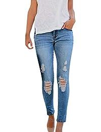 OYSOHE Damen Zerreißend Jeans Mode Hohe Taille Skinny Denim Pants Hosen Strassenmode