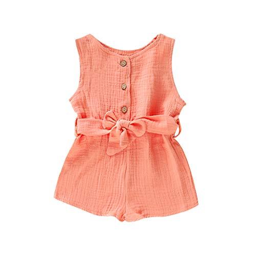 Frühchen Strampler Summer Infant Boys&Sleeveless Ruffles Solid Romper Jumpsuit Clothes Summer Infant Süß