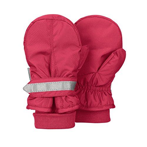 Sterntaler Fäustel für Kinder, Handschuhe, Wasserabweisend und reflektierend, Alter: 3-4 Jahre, Größe: 3, Rot (Beere) (Arbeitshandschuhe Reflektierende)