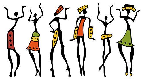 Wandtattoo Afrika Frauen Wandsticker Figuren Dekoration Silhouette