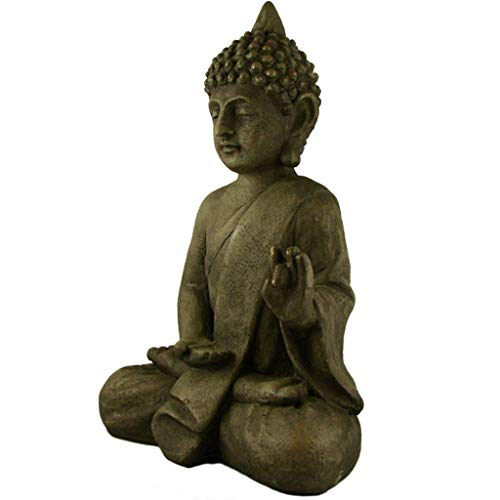 Stein Buddha Antik massiv Steinfigur - 4
