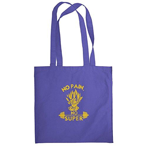 Texlab–No Pain No Super–sacchetto di stoffa Marine