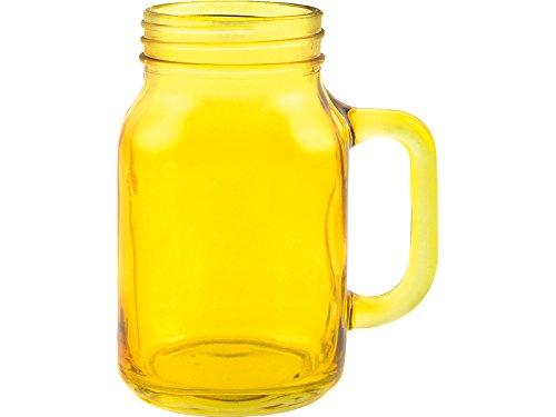 RANDWYCK Pot de Confiture en verre, Jaune, 550 ml