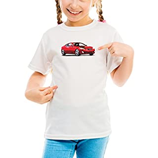Billion Group   Korean Red   Fast And Furious Motor Cars   Girls Classic Crew Neck T-Shirt White Large