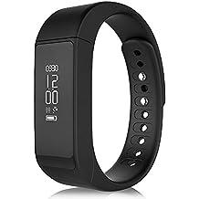 SmartBand pulsera de zkcreation i5Plus Fitness Rastreador podómetro Sleep Calidad Moniter Reloj Pulsera Inteligente para Android IOS, color negro