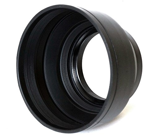 phot-r 58mm Professional 3Stage faltbar universal Gummi Multilinsen Kapuze (Kamera Minolta Professional)