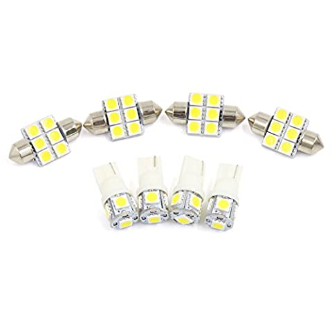 X AUTOHAUX® 8x for Nissan 350Z 2003-2008 White Car LED Lights Interior Map Reading Package Kit
