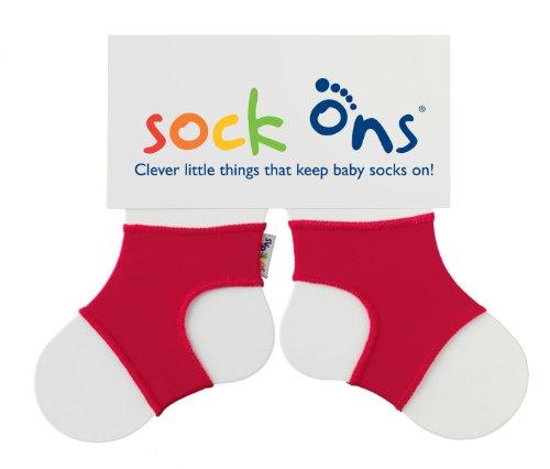 Sock Ons Unisex - Baby Sockenhalter 140554, Gr. 6-12 Monate, Rot