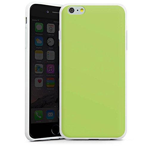 Apple iPhone SE Tasche Hülle Flip Case Lindgrün Frühling Grün Silikon Case weiß