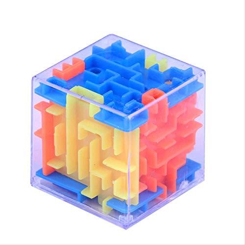 MOFMOF Zauberwürfel Mode Neue 3D Cube Puzzle Labyrinth Spielzeug Hand Spiel Fall Box Spaß Gehirn Spiel Spielzeug - Geschenke Kids Dark T-shirt