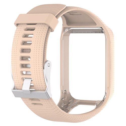 TomTom Uhrenarmband Spark 1 Soft Silikon Gel Ersatzband-Khaki (Lieblings-khaki)