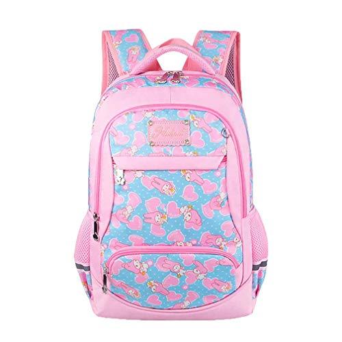 le Schulranzen Freizeit Wasserdichte Schulrucksack Mädchen 1-6 Klasse Rucksack Kinder Druck Kawaii Schultasche ()