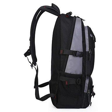 35 L Rucksack Draußen Multifunktions Grau Schwarz Armeegrün Oxford KAKA Black