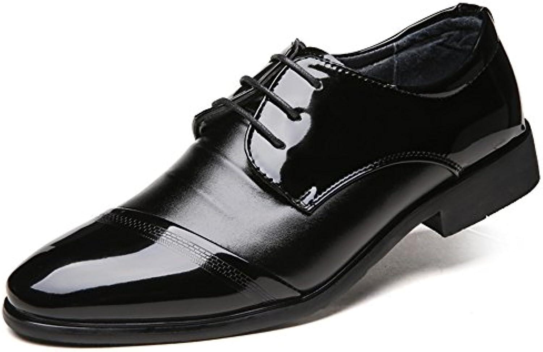 Zapatos Oxford de Negocios para Hombres de tacón Alto con Cordones !