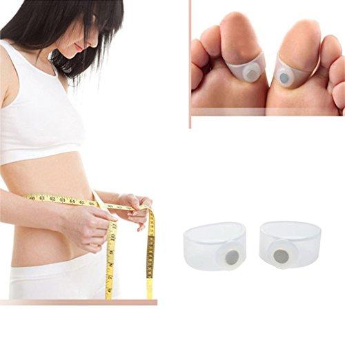 Preisvergleich Produktbild Keep Slim Health Zehenring,  Silikon,  magnetisch,  schlankes Design,  1 Paar