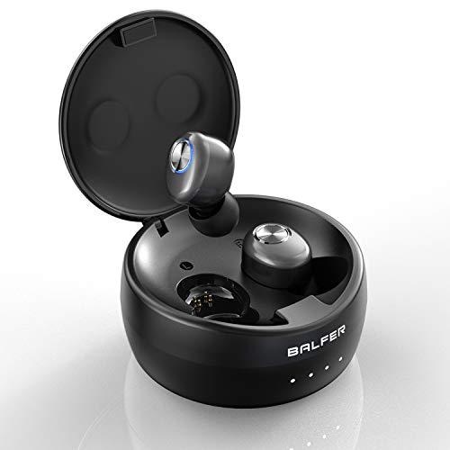 Écouteurs Bluetooth 5.0, BALFER Ecouteur sans Fil Léger Stéréo TWS, Micro intégré, Casque Deep Bass, Son de qualité supérieure avec étui de Chargement