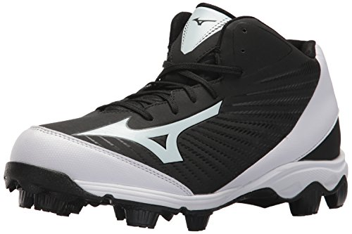 Mizuno Herren Molded Baseball Cleat Spike Advanced Franchise 9 geformte Baseballklampe - Mid, schwarz/weiß, 41 EU