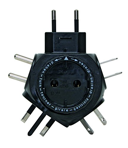 Kopp SB Weltreise-Stecker-Adapter Travel-Star, schwarz, 172205012