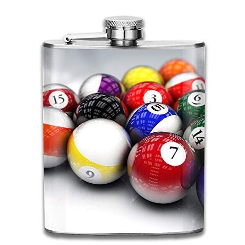 FGRYGF Pocket Container for Drinking Liquor, Color Billiard Hip Flask for Liquor Stainless Steel Bottle Alcohol 7oz