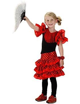 Folat -Spanischen Flamenco-Kleid für Mädchen, rot