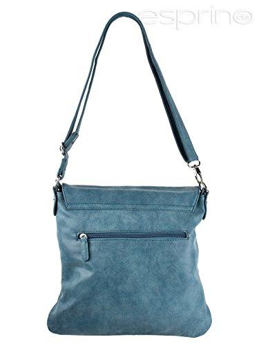 Bag Street, Borsa a spalla donna blu Blau Cognac Braun