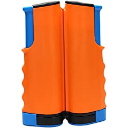 Portátil retráctil rack/reemplazo de red de tenis de mesa PING PONG accesorio, naranja