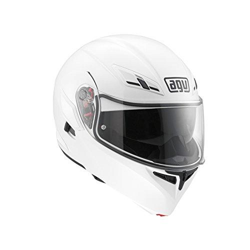 AGV Compact ST E2205 - Casco moto Solid plk, blanco, M.