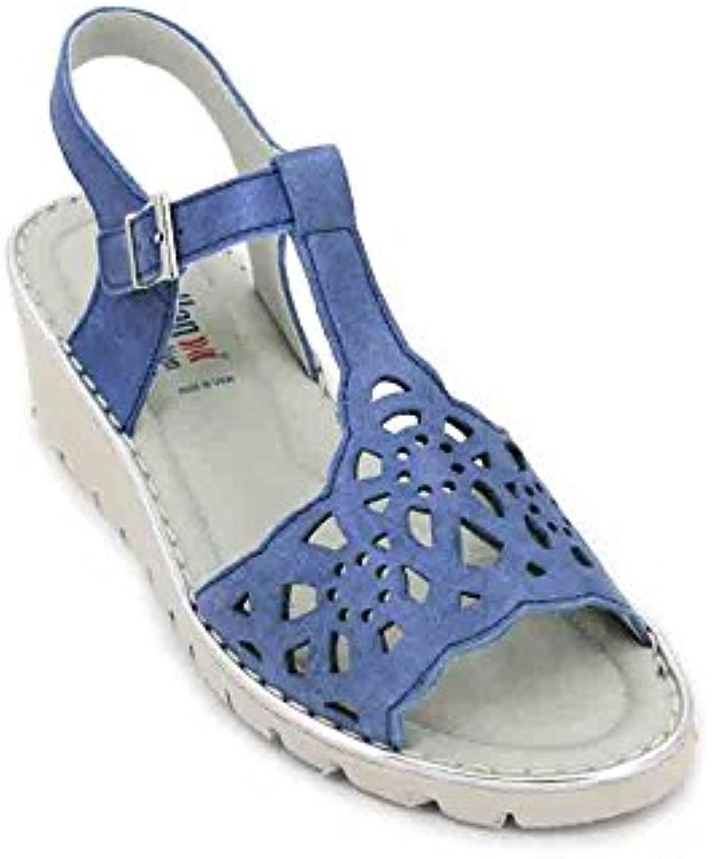 Callaghan Adaptaction 11108 Starwood Sandalias de Mujer - 39, Metal Azul