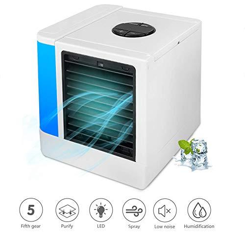JXJ Tragbare Klimaanlage Ventilator, Kleine Persönliche Klimaanlage, Air Personal Space Kühler Mit Befeuchter Und Luftreiniger USB Wiederaufladbare Mini-Tragbare Klimaanlage (Kühler Wasser)