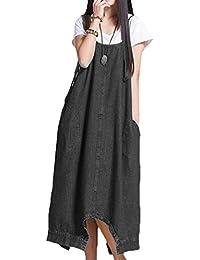 5fd8d83f6796 Scothen Jeans Femme Jupe Denim Jeans écharpe Manches Longues Partie Mini-Jeans  Robe Blouse Printemps été Bouton élégant Moulante…