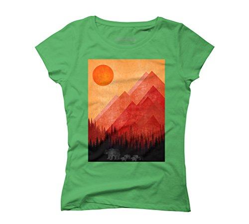 Bears Women's Graphic T-Shirt - Design By Humans Green
