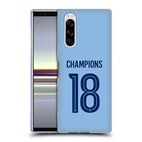 Head Case Designs Offizielle Manchester City Man City FC Home Kit 2017/18 Champions Soft Gel Huelle kompatibel mit Sony Xperia 5