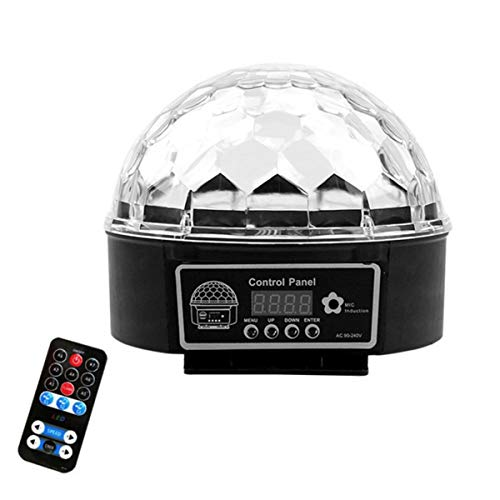 LED Magic Ball LED-Beleuchtung 9-Farben Crystal Light Entertainment-Disco KTV Tanzen zu Hause Geburtstag Neujahrsfest Feier Party-Effekt-Beleuchtung Professioneller DJ Bühnenbeleuchtung Buntes LED-Lic - Led Crystal Ball