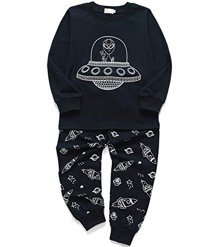 Tarkis Jungen Pyjama Schlafanzüge Lange Zweiteiliger Schlafanzug, 9, 116 (Herstellergröße: 130) - Baumwolle Zwei Stück Pyjama Set