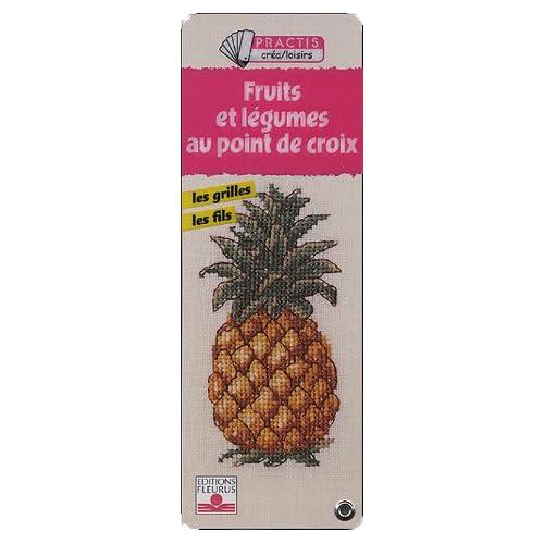 Fruits et légumes au point de croix
