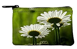 Makeup Bag white flowers Coin Purse