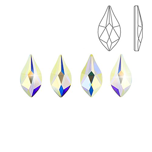 Swarovski HotFix 2205 piane fiamma Crystal AB 7,5 mm
