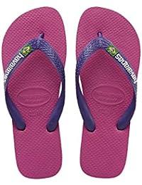 Havaianas Unisex-Kinder Brasil Logo Zehentrenner, Mehrfarbig (Raspberry Rose/New Purple), 33/34 EU (31/32 Brazilian)