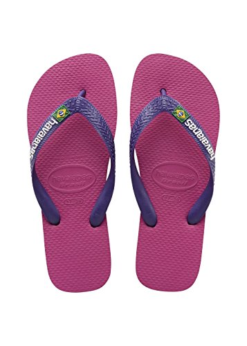 Havaianas Brasil Logo, Infradito Unisex Adulto, Multicolore (Raspberry Rose/New Purple), 43/44 EU