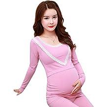 464ba5750 KINDOYO Mujer Embarazada Disfraz Otoño Invierno Prenatal y Posparto Mujer  Embarazada Ropa de Dormir