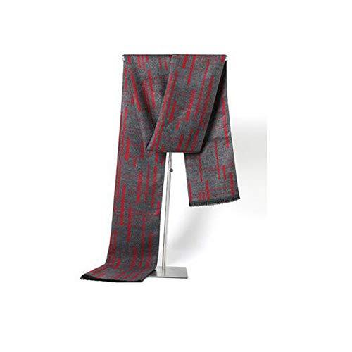 Automne et Hiver Imitation écharpe en Cachemire Chaud écharpe de Couleur Correspondant Jeune Collier d'affaires Hommes (180 * 30cm)